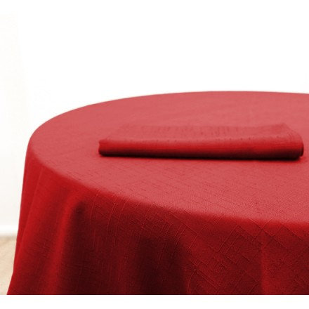 Location Nappe Jacquard Rouge