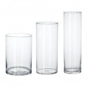 Vases Cylindre en Verre