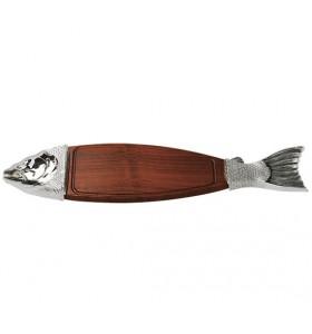 Planche présentation poisson Argent 116x26 cm