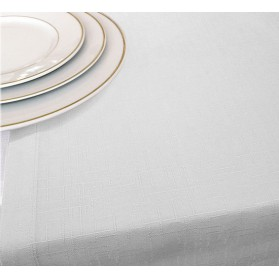 Chemin de Table Blanc Jacquard