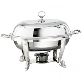 Chafing Dish ovale Argent 47x30 cm