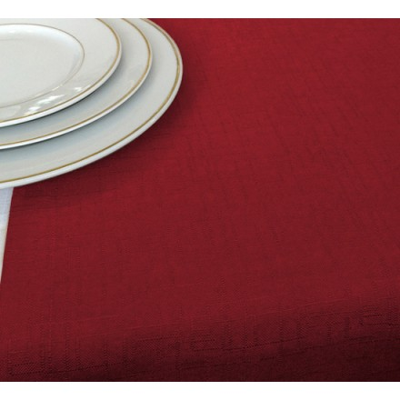 Chemin de Table Rouge Jacquard