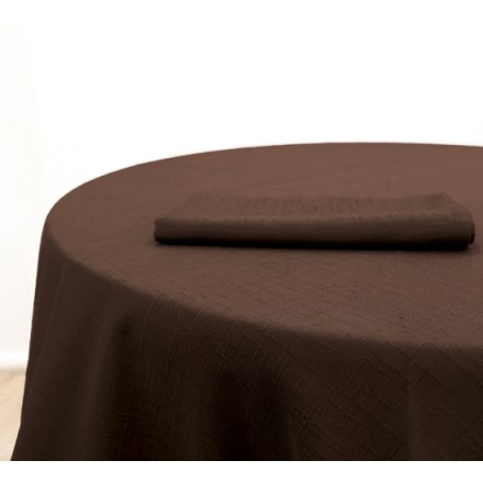 Location Nappe Jacquard Chocolat