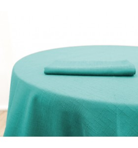 Location Nappe Jacquard Turquoise