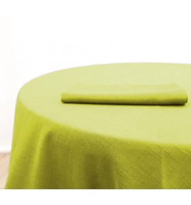Location Nappe Jacquard Vert Citron
