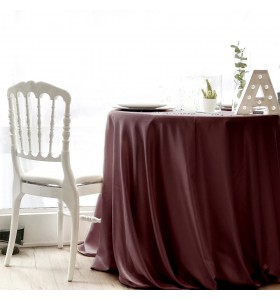 Location Nappe Satin Bordeaux