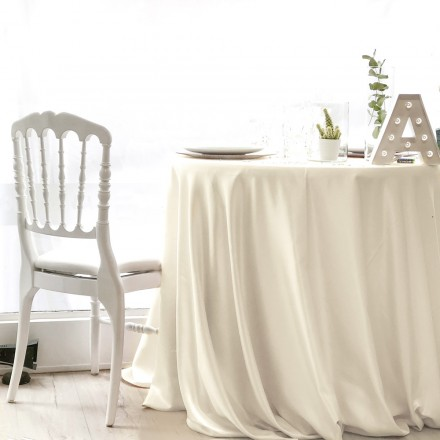 Location nappe Satin Blanc Perlé