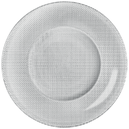 Assiette Metallic ARGENT