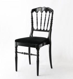 Location chaise Napoleon Noire