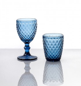 Verres Collection Diamond Bleu
