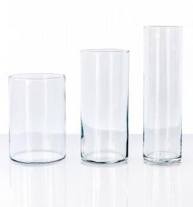 Location Vases Cylindre en Verre