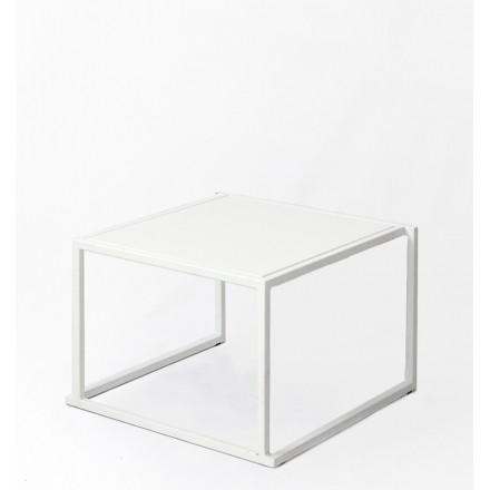location table basse quadro blanche.