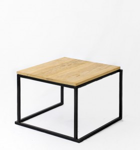 location table basse quadro noire plateau wood