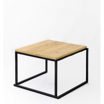 location table basse quadro noire plateau wood