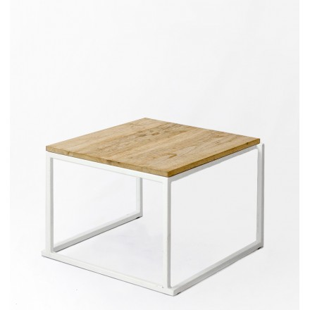 location table basse blanche plateau bois