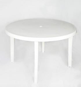 VENTE : Table en plastique blanche marque Grosfillex