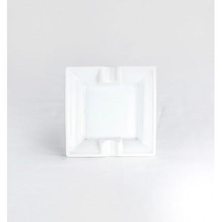 VENTE : Cendrier Porcelaine Carré 10x10 cm