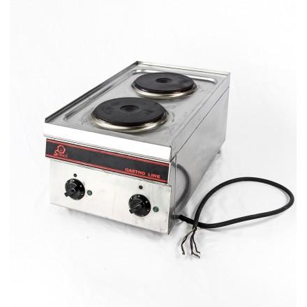 VENTE : Plaque de cuisson électrique 2 feux triphasée