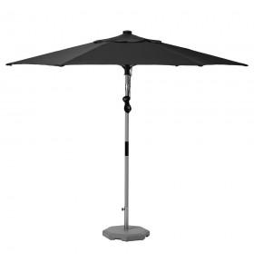 Location parasol toile gris foncée