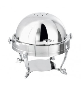 Chafing Dish Roll-Top Rond Argent